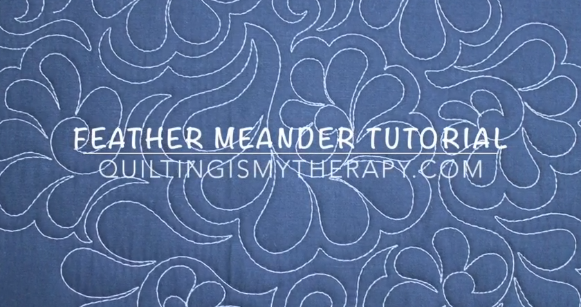 feather meander video tutorial