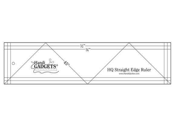 "HQ Straight Edge Ruler 3"" x 12"""
