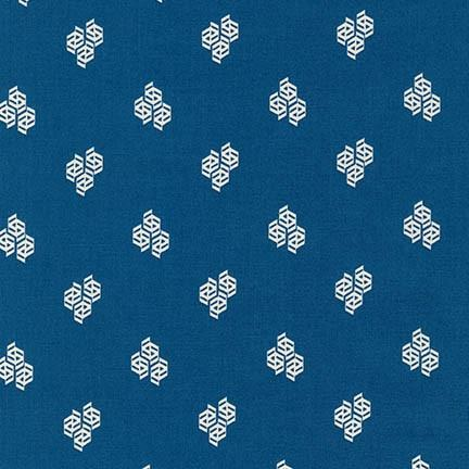 1/2 yard Fragmental Hexi-Dots Royal Blue