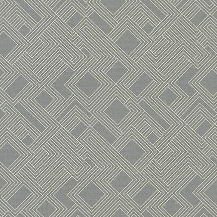 1/2 yard Fragmental Maze Gray