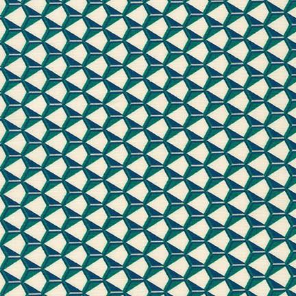 1/2 yard Fragmental Hexagon Grid Park
