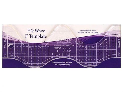 Handi Quilter Ruler Wave F 4""