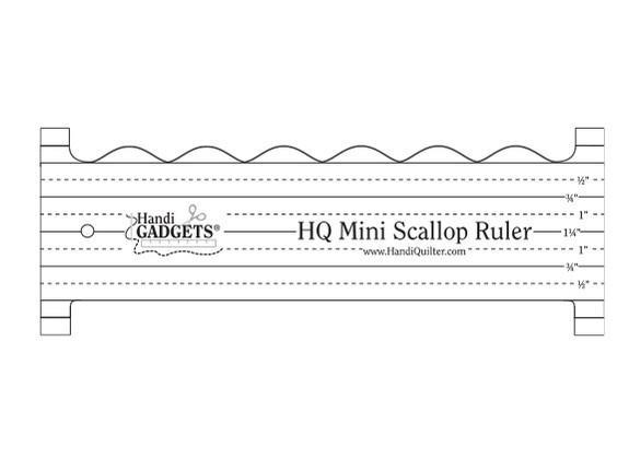 Handi Quilter Ruler Mini Scallop Ruler