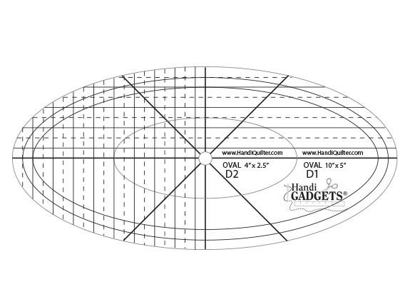 HQ Ruler Set Oval D