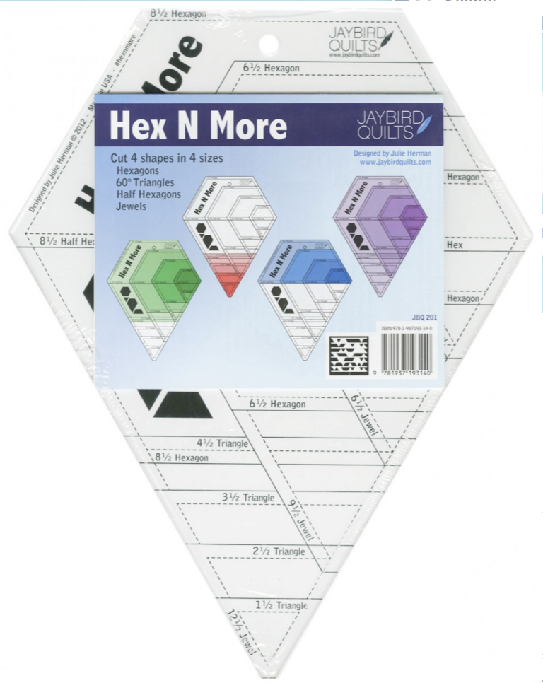 Hex N More Ruler by Julie Herman Pattern