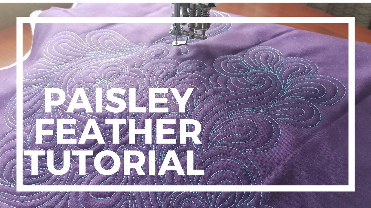 machine quilting video tutorial paisley feather by Angela Walters