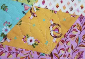 continuous curve quilting design