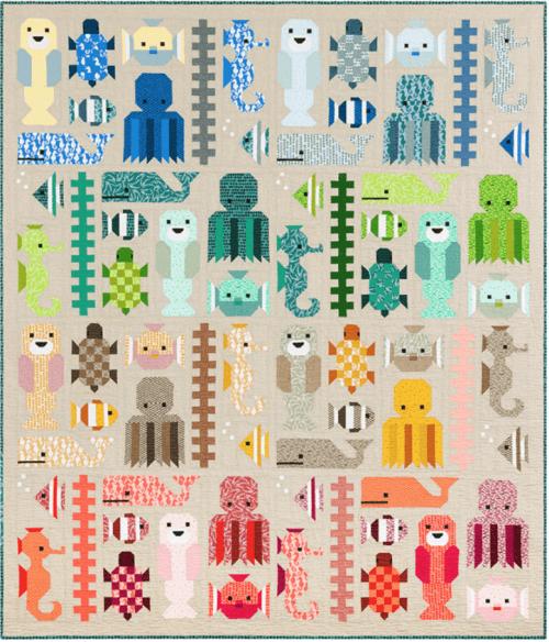 Awesome Ocean Quilt Pattern by Elizabeth Hartman