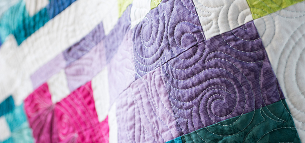 machine quilting a bargello quilt