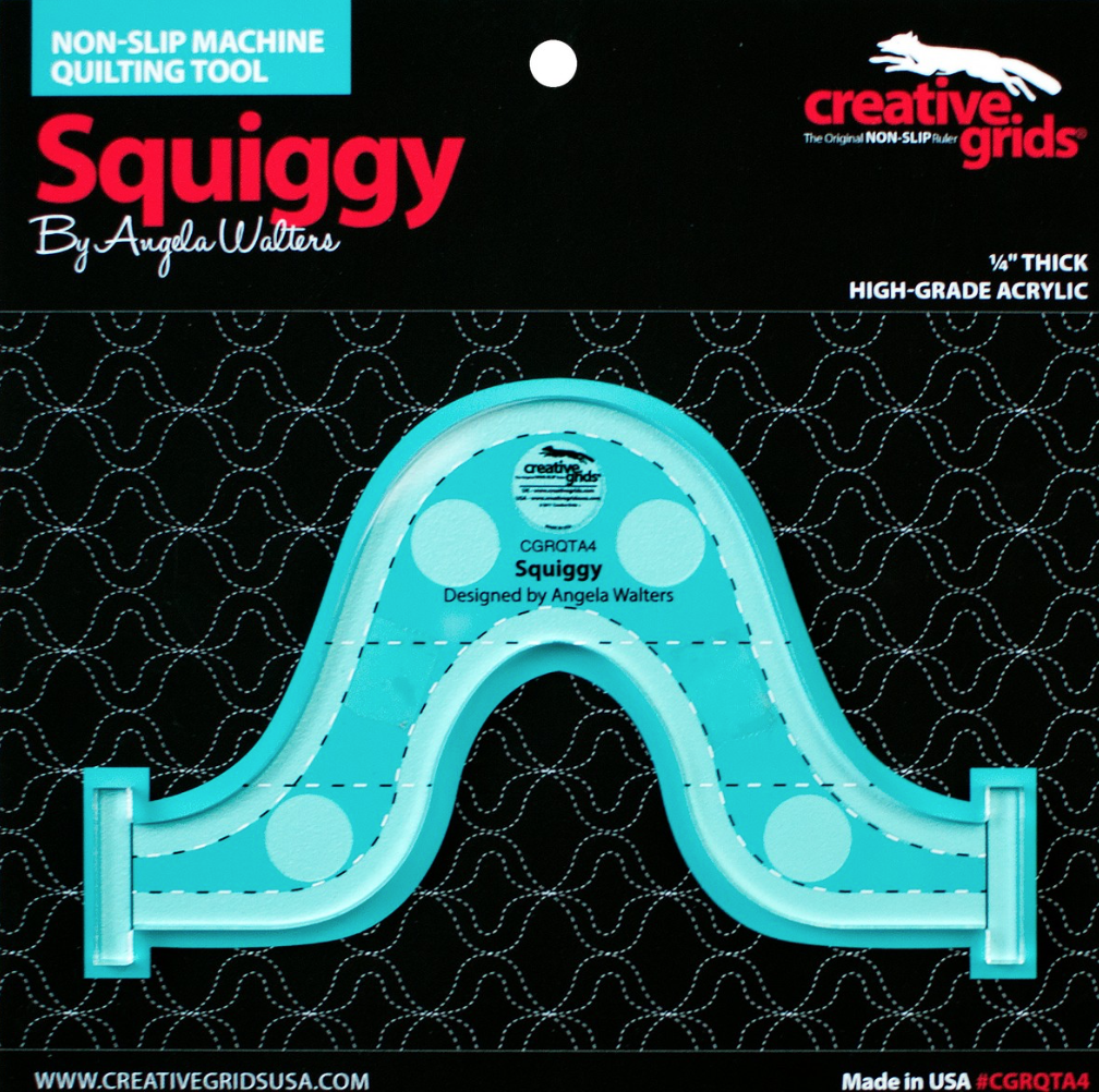 Squiggy Machine Quilting Ruler Designed By Angela Walters & Creative Grids