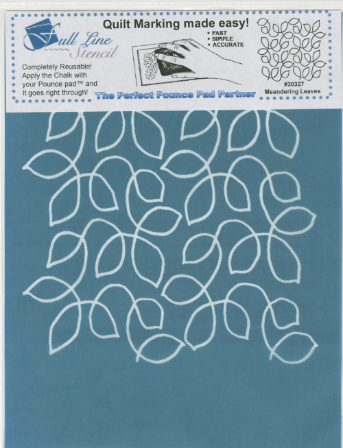 Full Line Stencil Meandering Leaves
