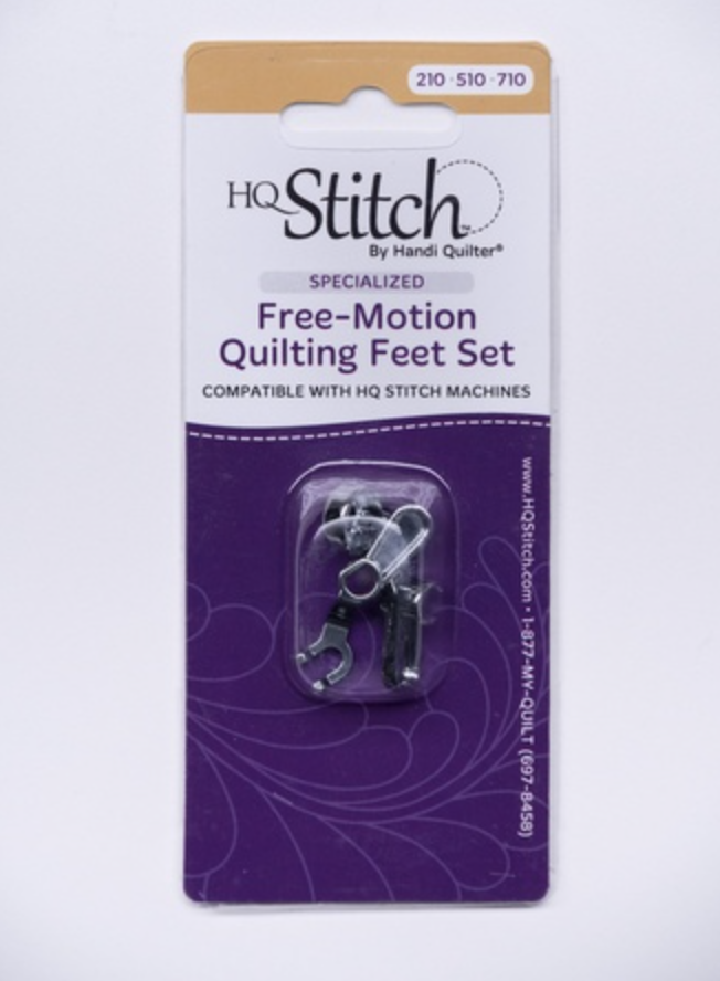 Specialized Free-Motion Quilting Feet Set - HQ Stitch (Open Toe Foot & Ruler Foot)