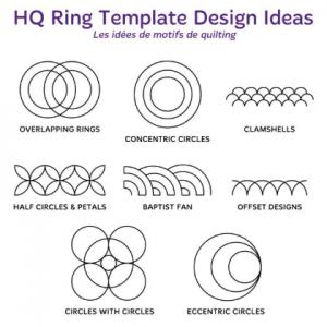 Handi quilter silver ring ruler set