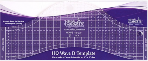 Handi Quilter Ruler Wave B 10""