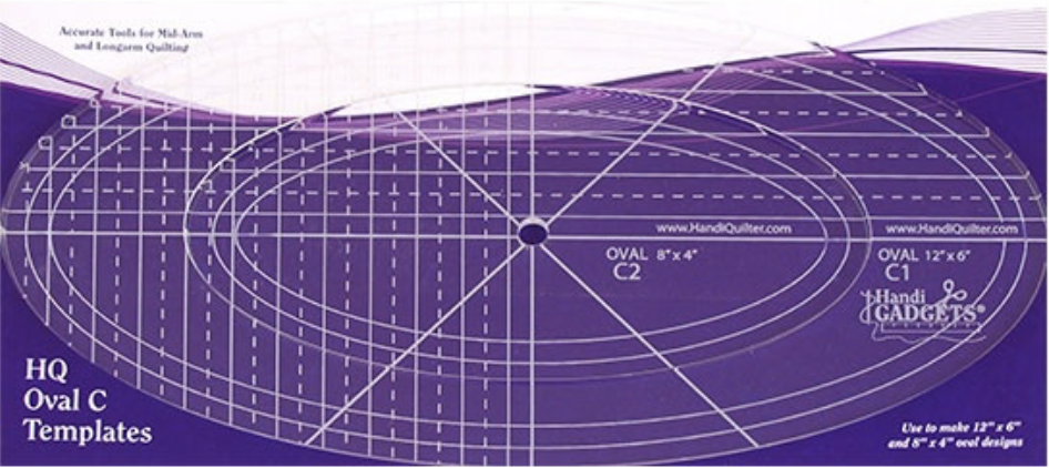 """Handi Quilter Oval C Ruler 12"""" and 8"""""""