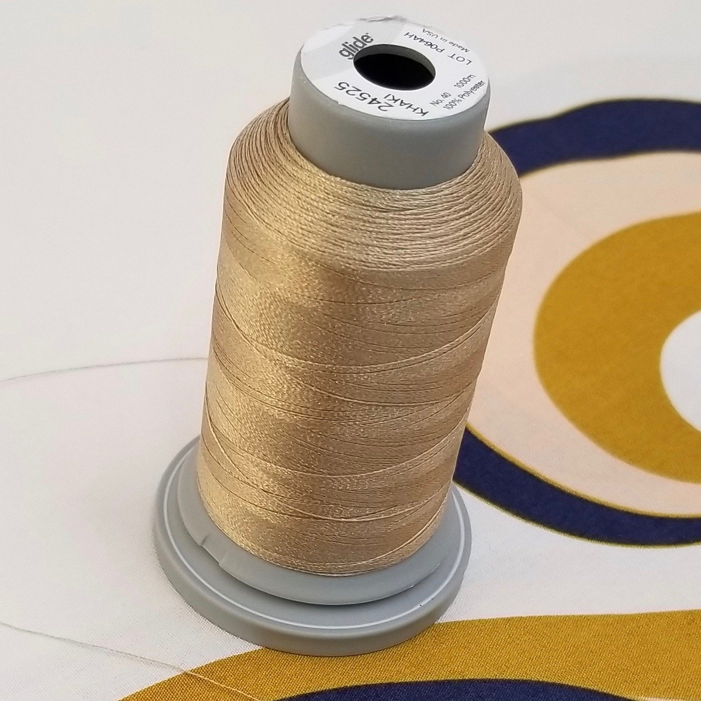 Gold Glide Poly Thread Spool- Khaki