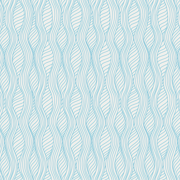 Drift Blue Waves Fabric by Angela Walters