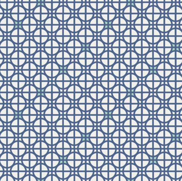 Drift Blue Lattice Fabric by Angela Walters