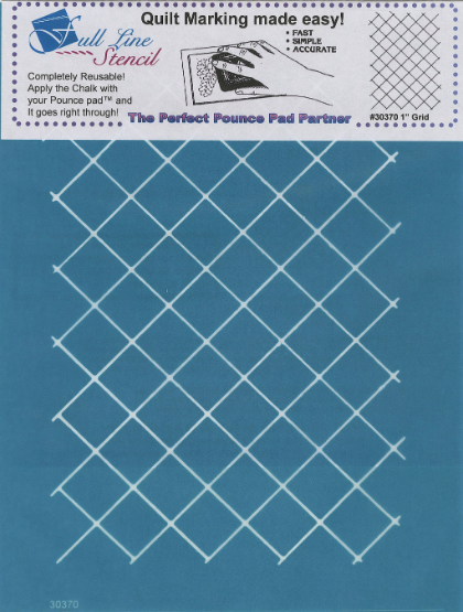"Machine Quilting Stencil 1"" Grid"