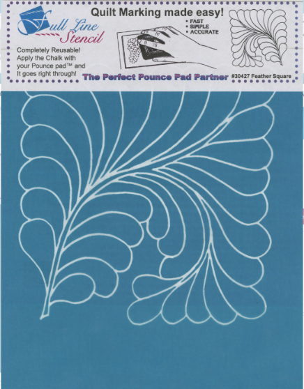 Machine Quilting Stencil Full Line Feather Square