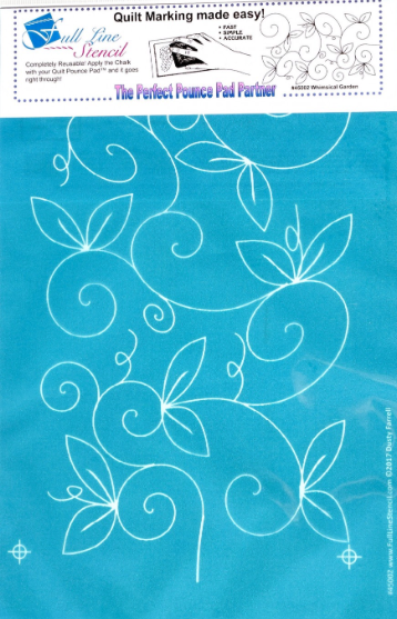 Machine Quilting Stencil Whimsical Garden