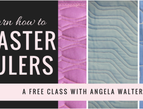 Scared of Machine Quilting with Rulers? Try Out My FREE Video Series!