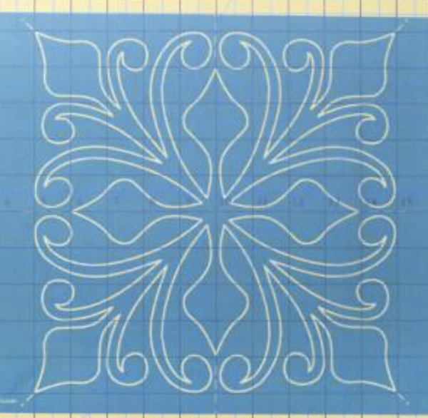 Machine Quilting Stencil Majestic Block