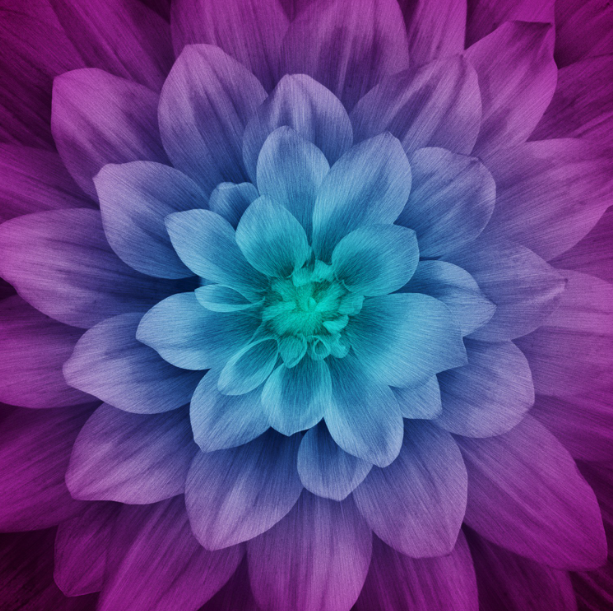 Aurora Dream Big Flower Panel By Hoffman Fabrics