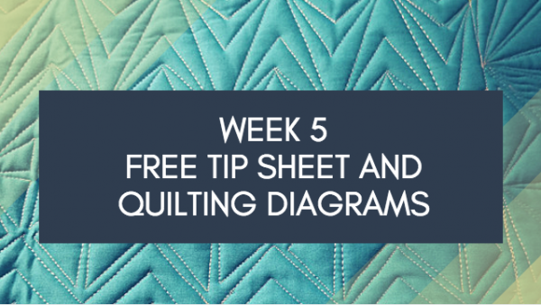 Week 5 FREE Tip Sheet and Diagrams Dot to Dot Free-motion Challenge Quilting Along