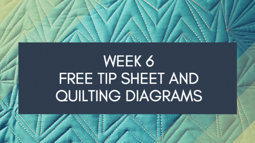 Week 6 FREE Tip Sheet and Diagrams Dot to Dot Free-motion Challenge Quilting Along