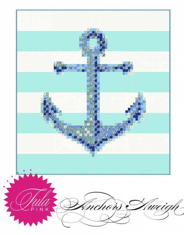 Anchor's Aweigh Quilt Kit Featuring Zuma by Tula Pink