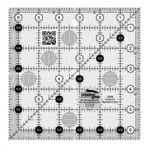 "Creative Grids Quilt Ruler 6 1/2"" x 6 1/2"""