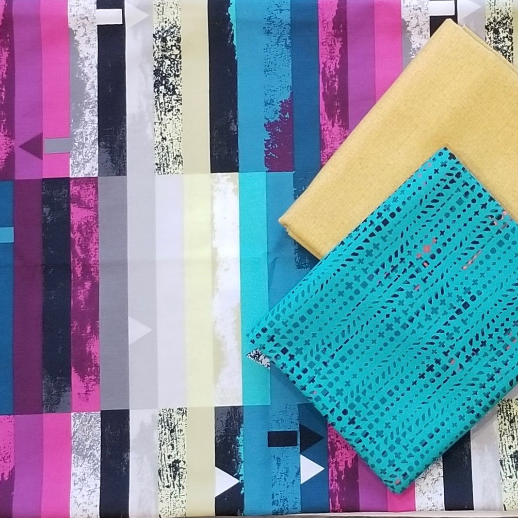 layered machine quilting free-motion challenge quilting along