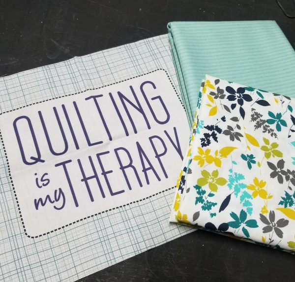 The Builder's Apron Kit for Build a Quilt- Aurora Blue Colorway