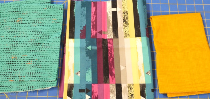 Layered Machine Quilting Kit: Gold and Blue
