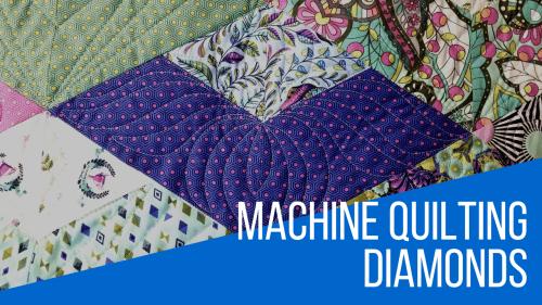 Machine Quilting Diamond Blocks YouTube video
