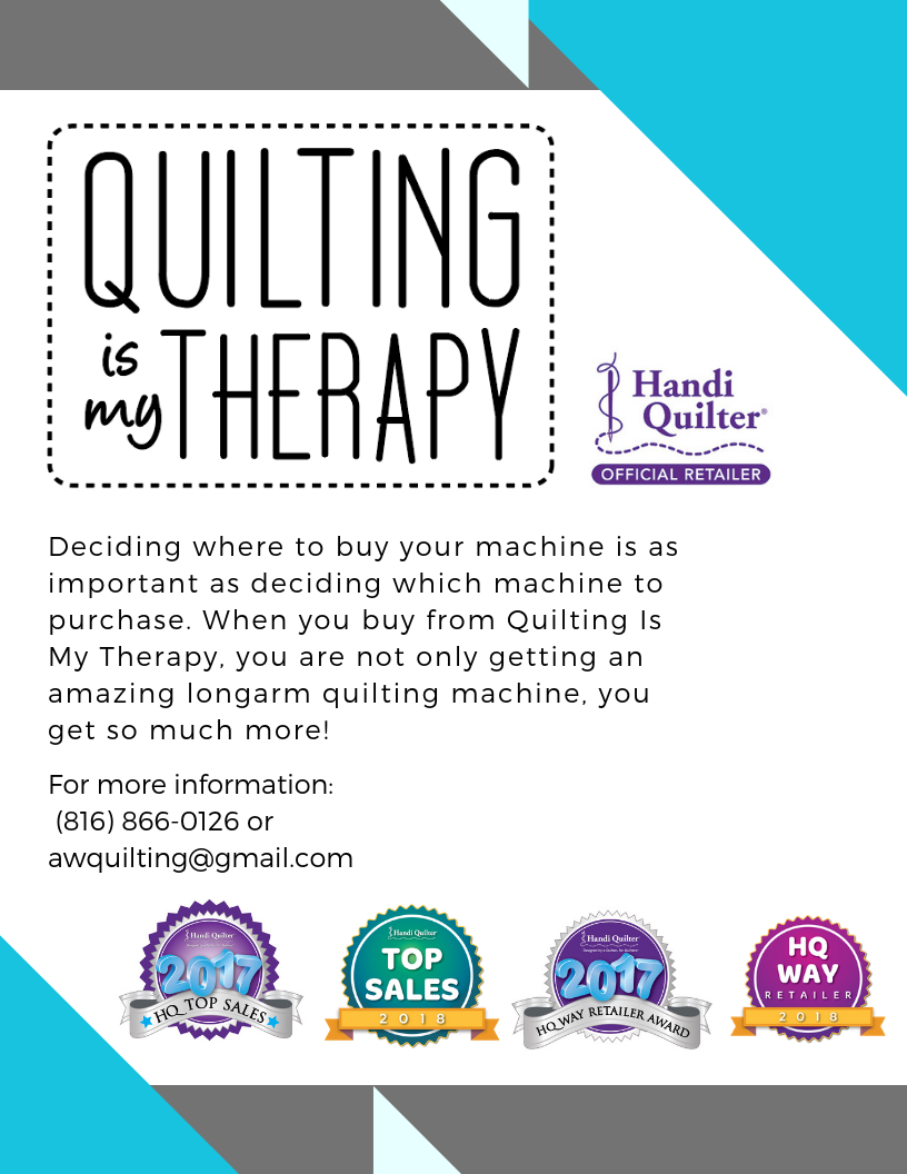 quilting is my therapy handi quilter