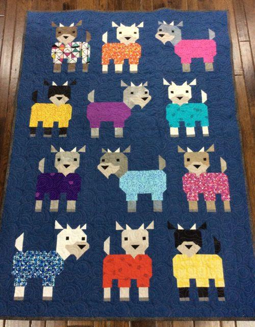 kidding around goat quilt