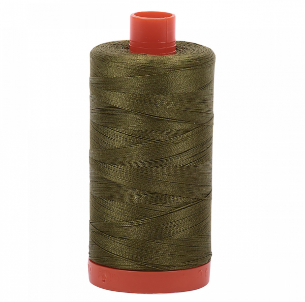 aurifil very dark olive cotton thread