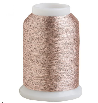 rose gold metallic thread