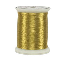 metallic gold thread spool
