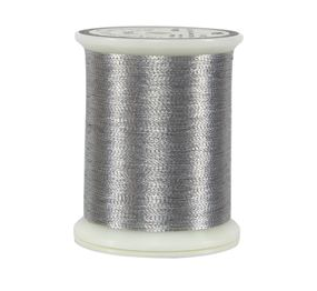 metallic silver thread spool