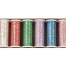 Glitter Hologram thread - Hologram colors set of 8 spools (400 yd. spools). I