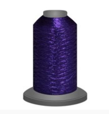 Glisten Metallic thread  has a specialized finish applied to its surface in order to make it extra soft & more resistant to abrasion. 40 wt metallic thread, 670m spool made by Fil-tec