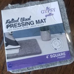 "4"" square wool pressing mat"