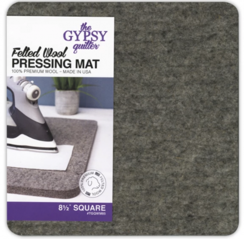 "8 1/2"" square wool mat"