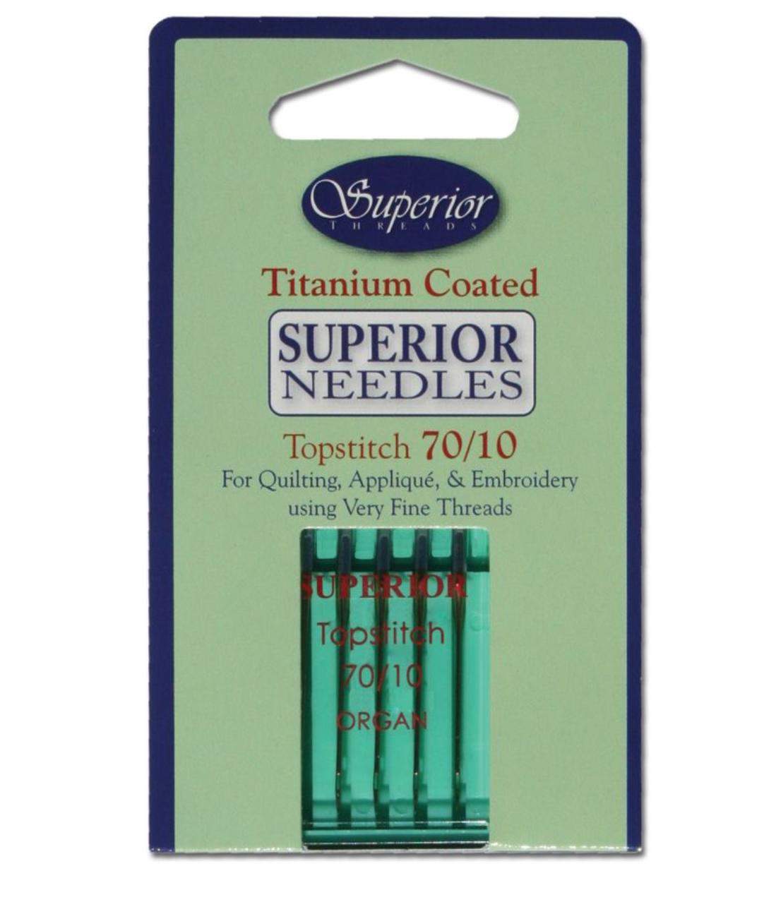 32-70-10 topstitch needles 70/10