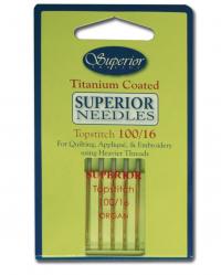 titanium top stitch needles 100/16