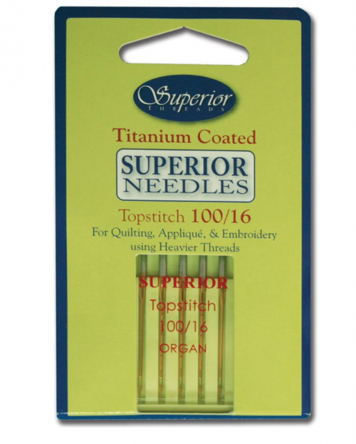 titanium top stitch needles 100/16