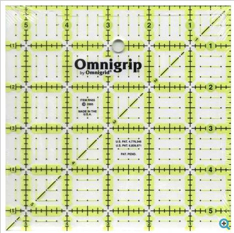 """omnigrid 5 1/2"""" square ruler"""